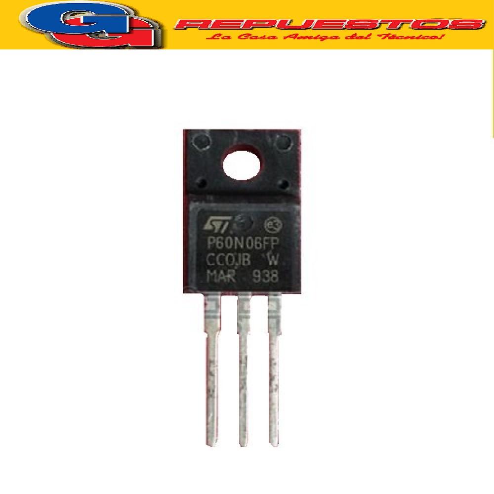 STP60N06FP TRANSISTOR FET CANAL N -CAPSULADO PLASTICO- (60V/60A/0.14 ohms)
