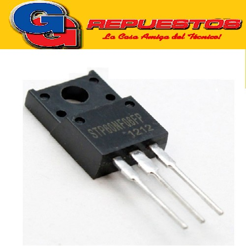 STP60NF06FP TRANSISTOR MOSFET CANAL N -PLASTICO- (60V/37A/42W/0.016omhs) TO220FP
