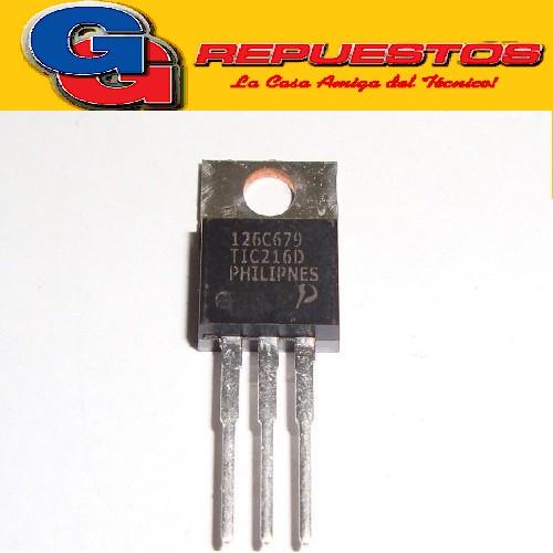 TIC216D TIRISTOR (400V/6A/2.5°C-W) TO-220
