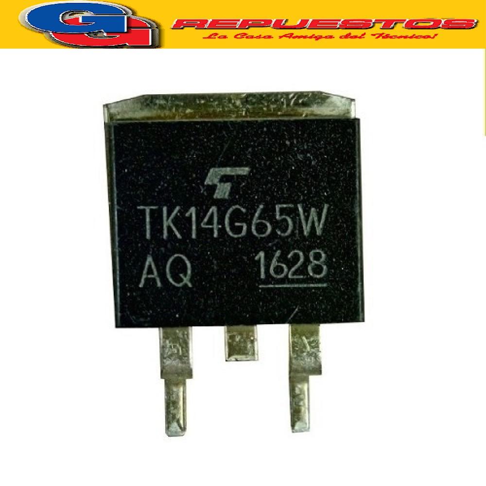TK14G65W TRANSISTOR MOSFET CANAL N (650V/130W/13.7A/0.25 ohms)
