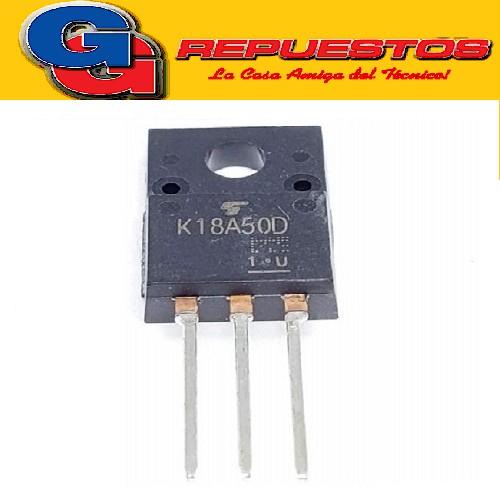 TK18A50D TRANSISTOR MOSFET CANAL N (500V/18A/50W/0.22 ohms)