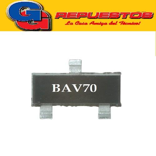 BAV70 DIODO DE CONMUTACION SWITCHING (70V/4.5A/250mW) SOT-23
