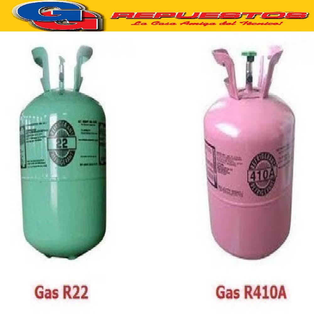 OFERTA 1 GARRAFA GAS R22 PURO 13,6 KG Y UNA GARRAFA DE GAS R410 11.30 KG