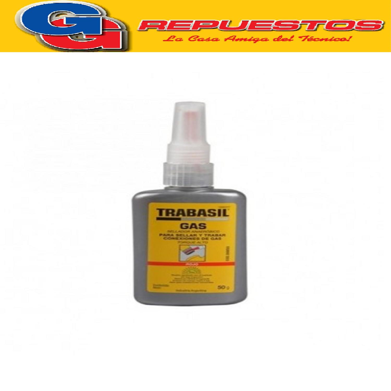 TRABASIL GAS ROJO SELLADOR ANAEROBICO PARA SELLAR Y TRABAR CONEXIONES DE GAS TORQUE ALTO 50G