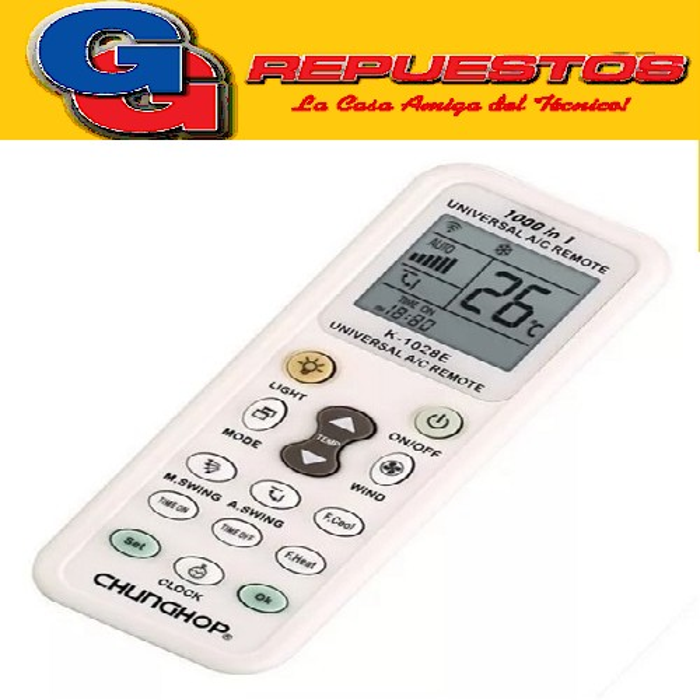 CONTROL REMOTO AIRE UNIVERSAL A/C REMOTE K-1028E