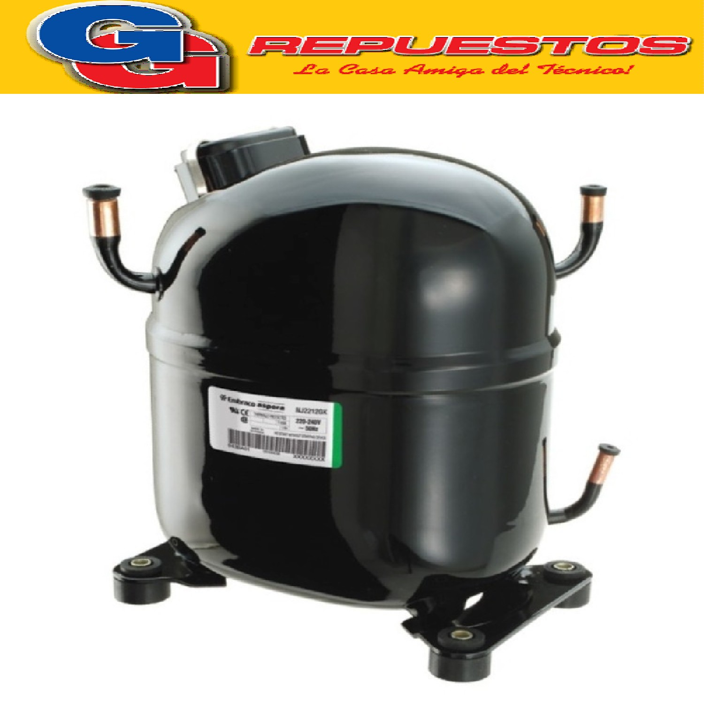 MOTOCOMPRESOR EMBRACO ASPERA 1 HP R134 HBP NJ6220Z COMERCIAL