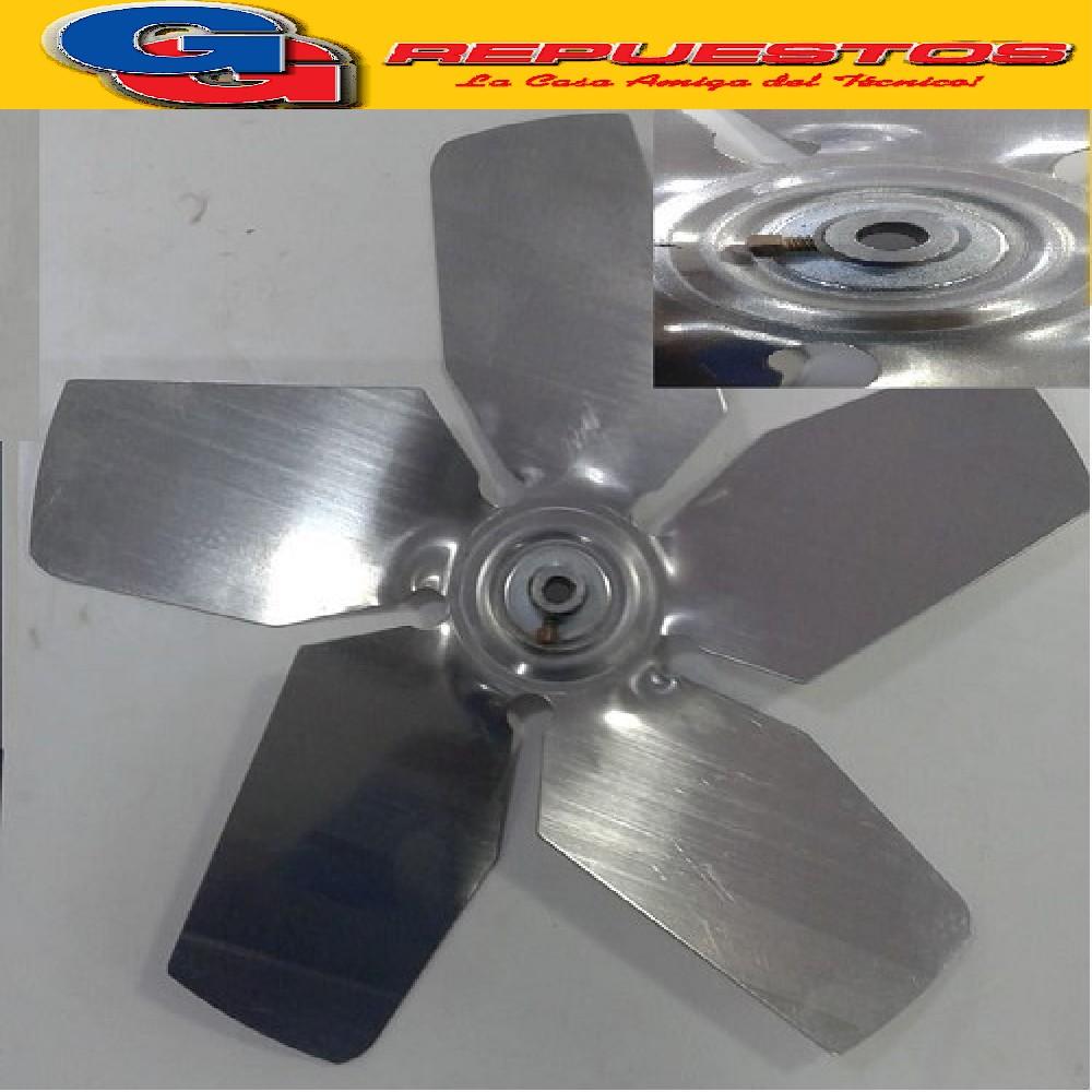 PALA DE ALUMINIO RO-FE PARA FORZADOR DE 40 cm CON PRICIONERO EJE 9.5 mm