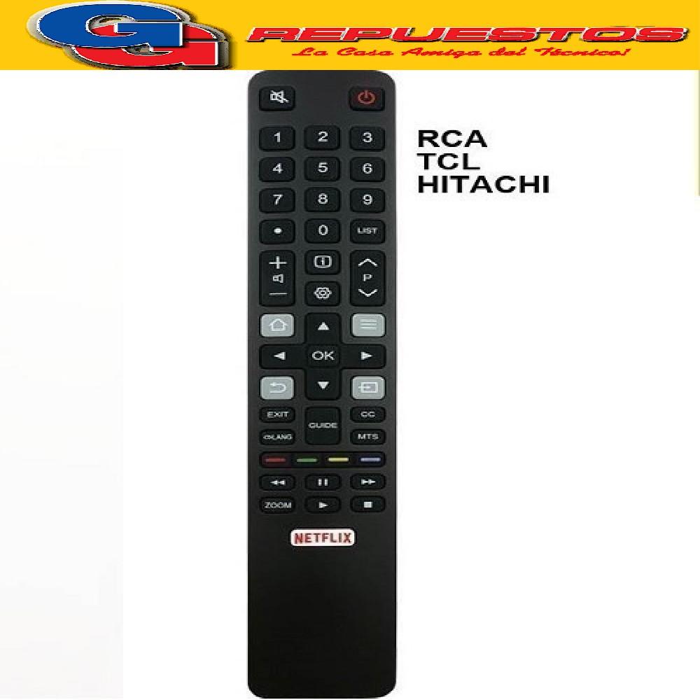 CONTROL REMOTO LED SMART RCA, TCL, HITACHI R5320 R6848= R6859=R5320=3849=3859