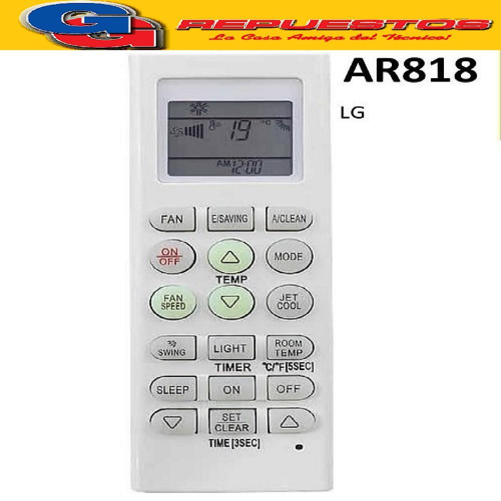 CONTROL REMOTO AIRE SANYO, COVENTRY, NOBLEX, LG  A418