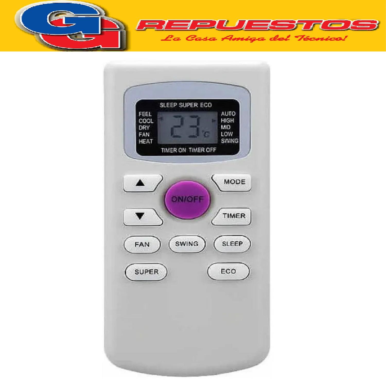 CONTROL REMOTO AIRE SANYO, COVENTRY, NOBLEX , HITACHI ,RCA , TCL. DAEWO, KELVINAITOR, ELECTROLUX A419