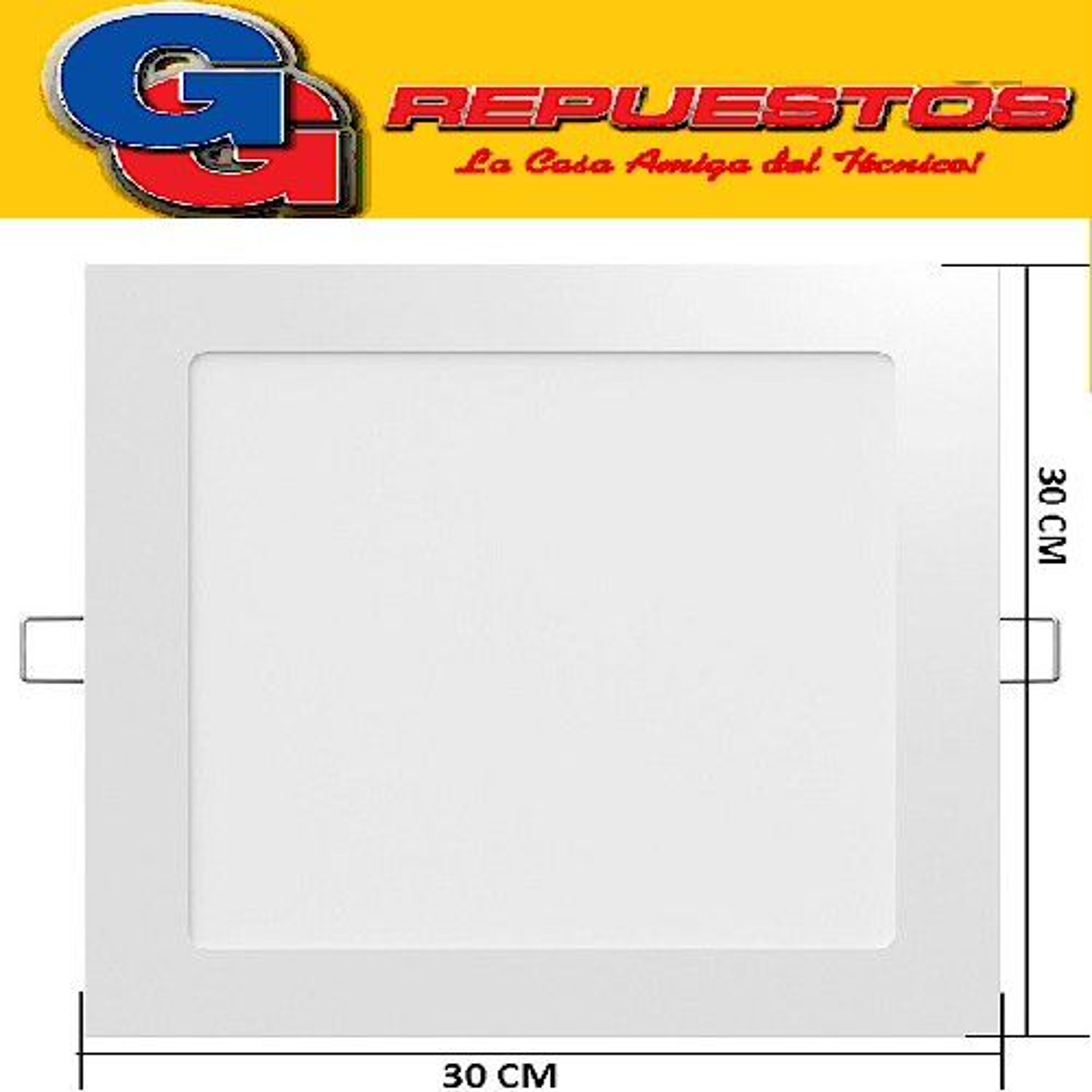 PANEL LED CUADRADO PARA EMBUTIR 24W CON DRIVER EXTERNO - 300x300MM - BLANCO FRIO JA-324
