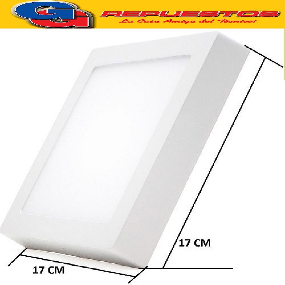 PANEL LED CUADRADO PARA SUPERFICIE/PLAFON 12W CON DRIVER EXTERNO - 170x170MM - BLANCO CALIDO JA-512