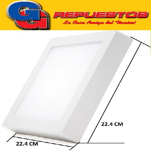 PANEL LED CUADRADO PARA SUPERFICIE/PLAFON 18W CON DRIVER EXTERNO - 224x224MM - BLANCO CALIDO JA-518