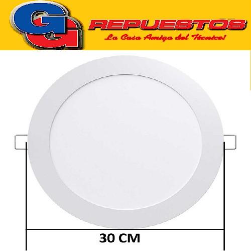 PANEL LED REDONDO PARA EMBUTIR 24W CON DRIVER EXTERNO -DIAMETRO 300 MM- BLANCO FRIO - JA-324