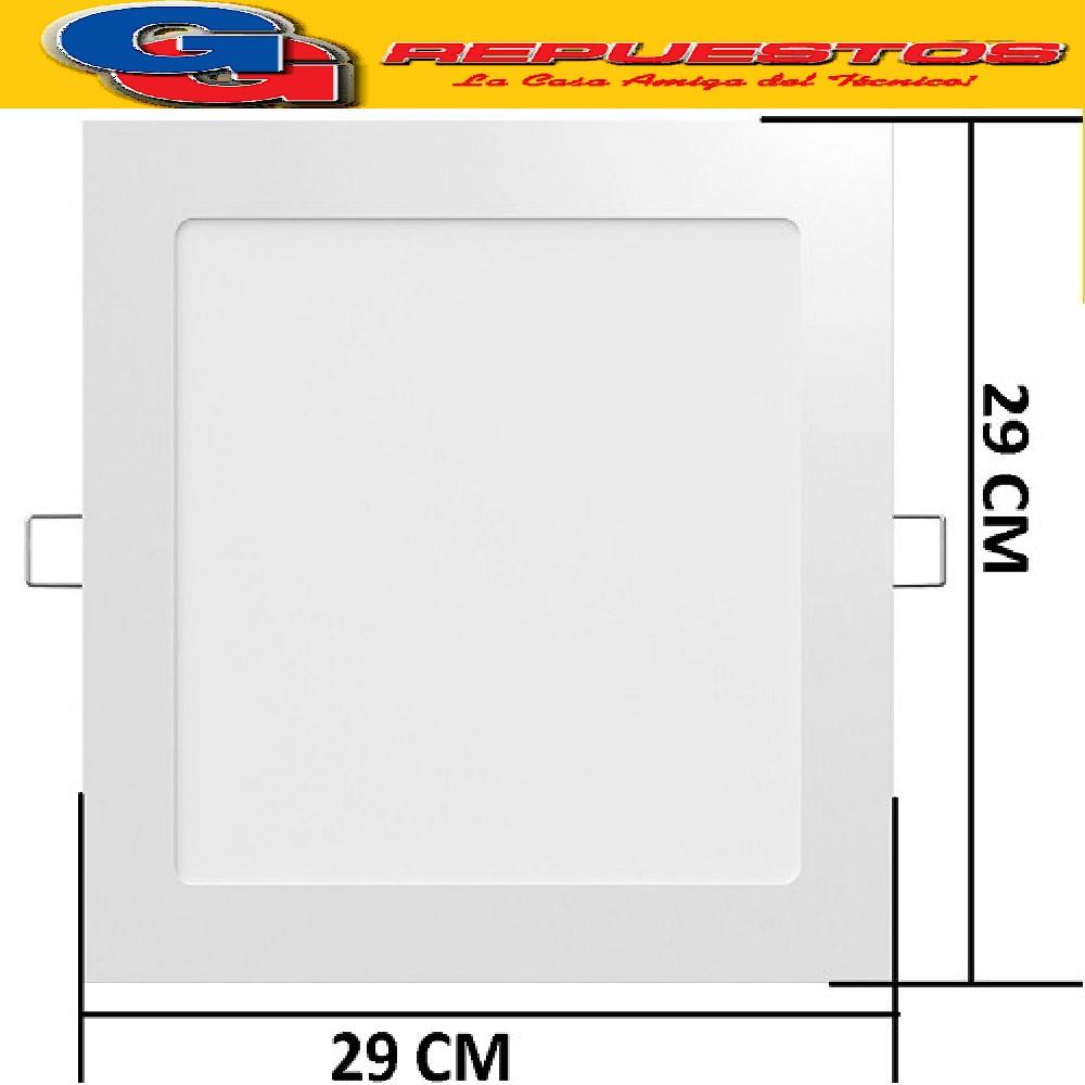 PANEL LED REDONDO PARA EMBUTIR 24W CON DRIVER EXTERNO - DIAMETRO 290 MM -BLANCO CALIDO - JA-324