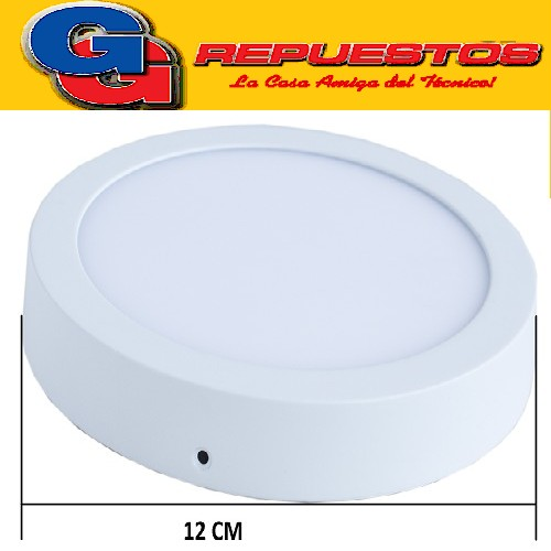PANEL LED REDONDO PARA SUPERFICIE/PLAFON 6W CON DRIVER EXTERNO - DIAMETRO 120MM - BLANCO CALIDO- JA-506