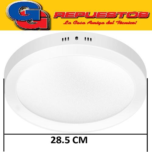 PANEL LED REDONDO PARA SUPERFICIE/PLAFON 24W CON DRIVER EXTERNO -DIAMETRO 285MM-BLANCO FRIO - JA-524