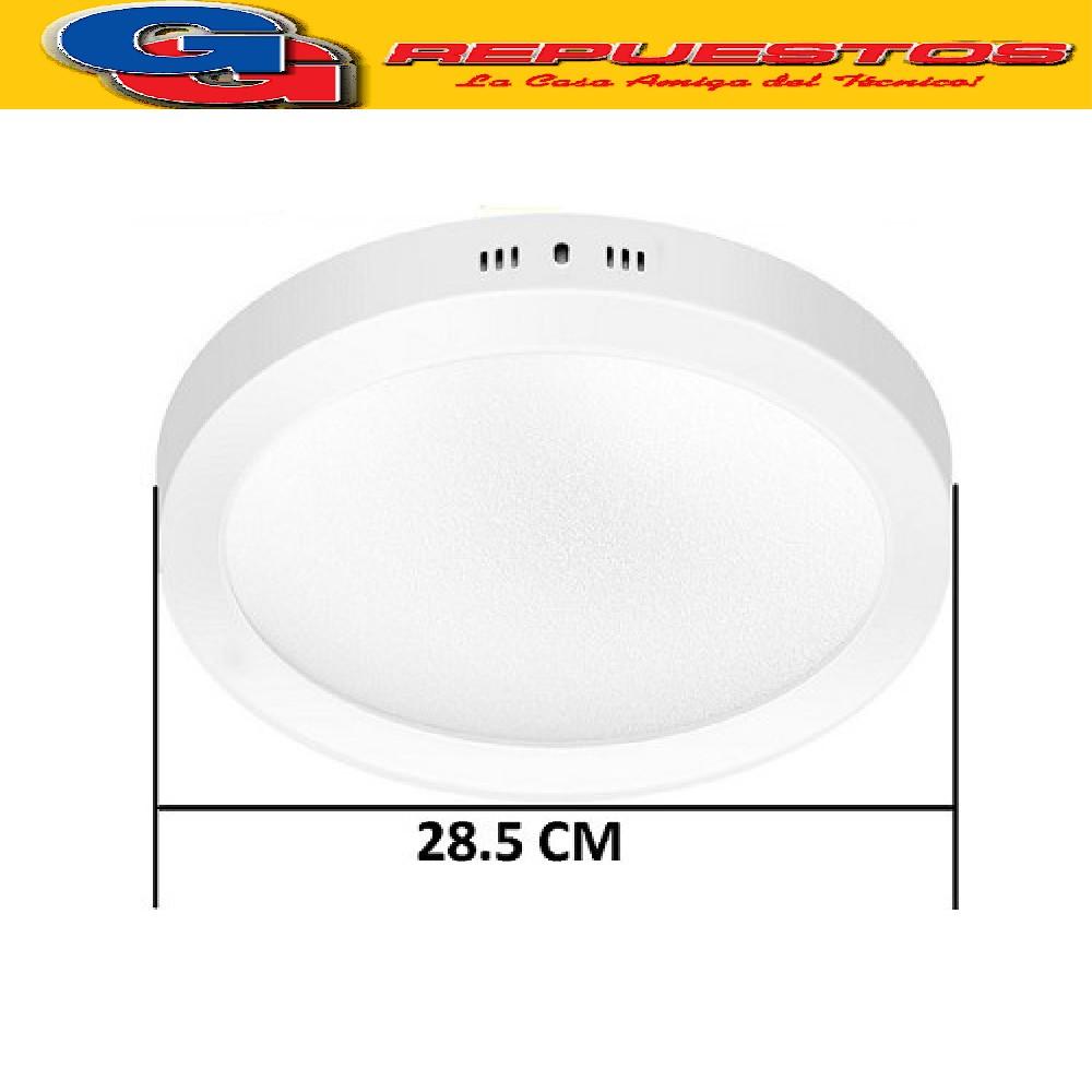 PANEL LED REDONDO PARA SUPERFICIE/PLAFON 24W CON DRIVER EXTERNO - DIAMETRO 280 MM BLANCO CALIDO - JA-524