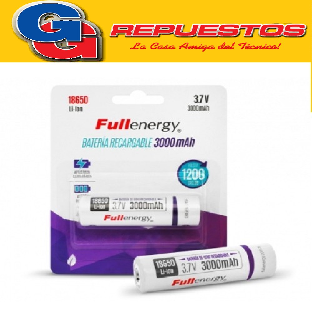 BATERIA RECARGABLE DE LITIO 18650 3.7V PILA