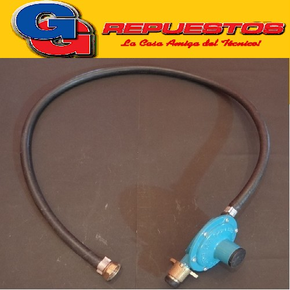 REGULADOR DE GAS P/GARRAFA 10KGS IMPORTADO CABEZA GRANDE CON MANGUERA 1 mts