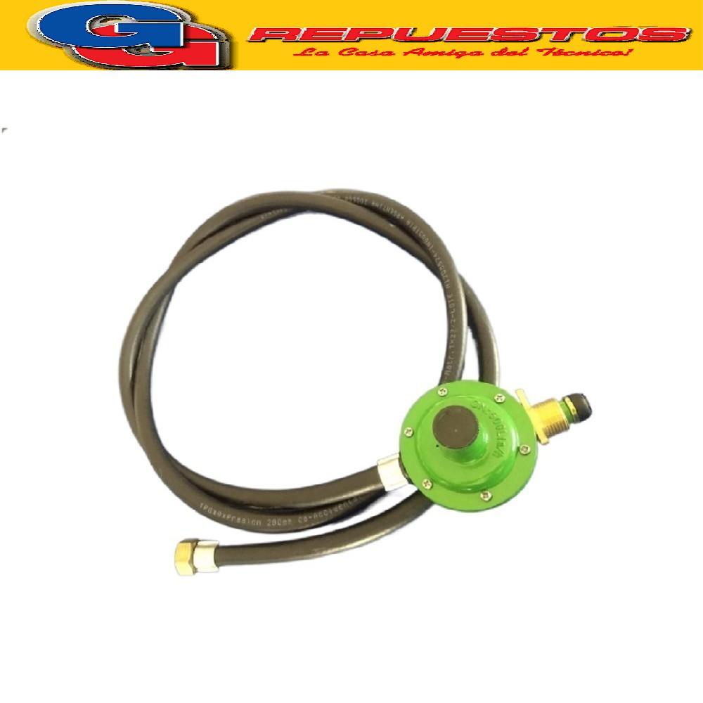 REGULADOR DE GAS P/GARRAFA 10KGS IMPORTADO CABEZA GRANDE CON MANGUERA 1.5 mts