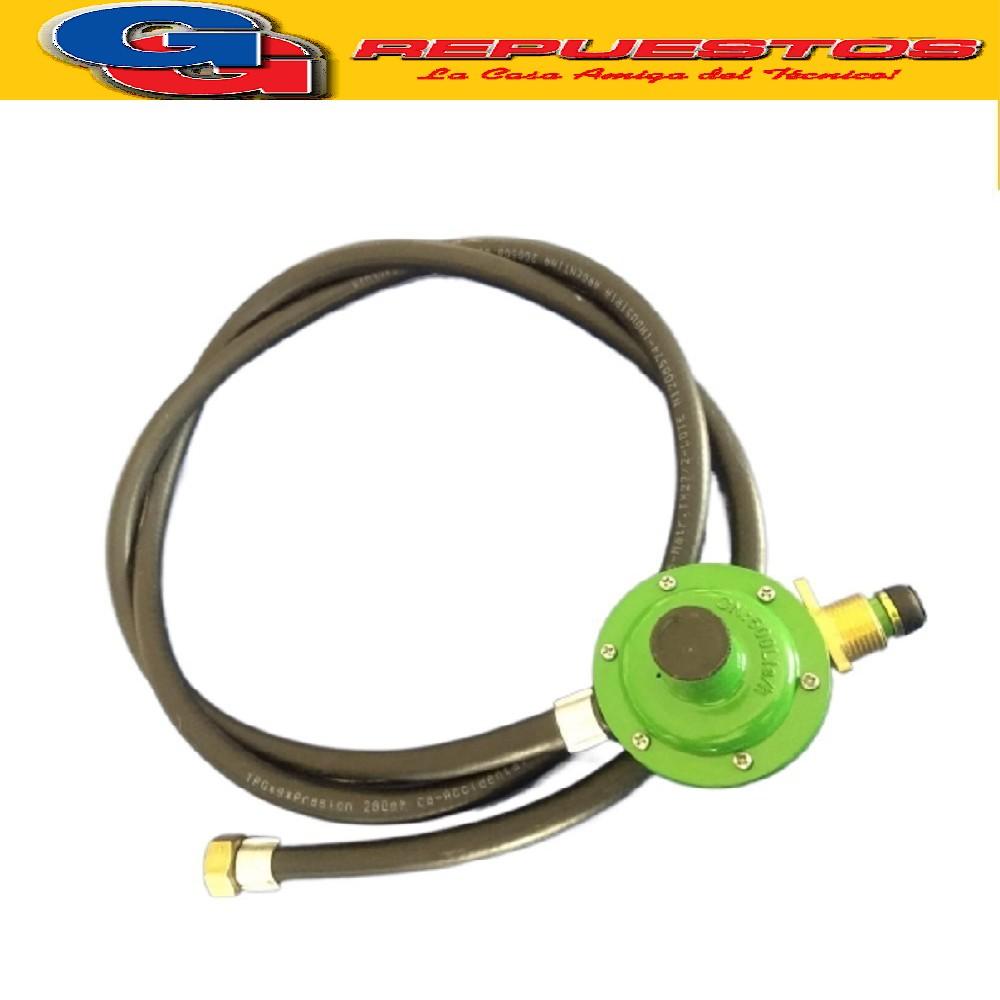 REGULADOR DE GAS P/GARRAFA 10KGS IMPORTADO CON MANGUERA 2 mts APROBADO