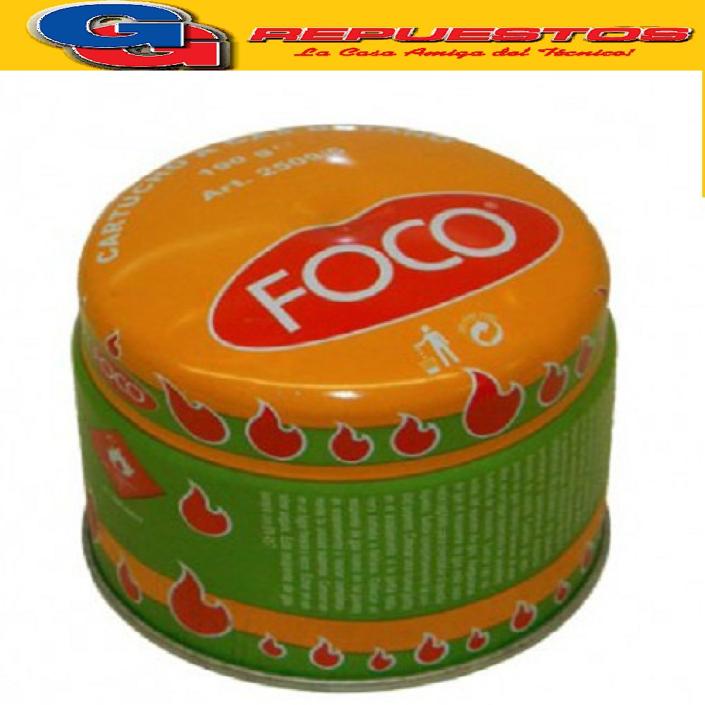 CARTUCHO 190 gr GAS BUTANO (BOCHITA) FOCO