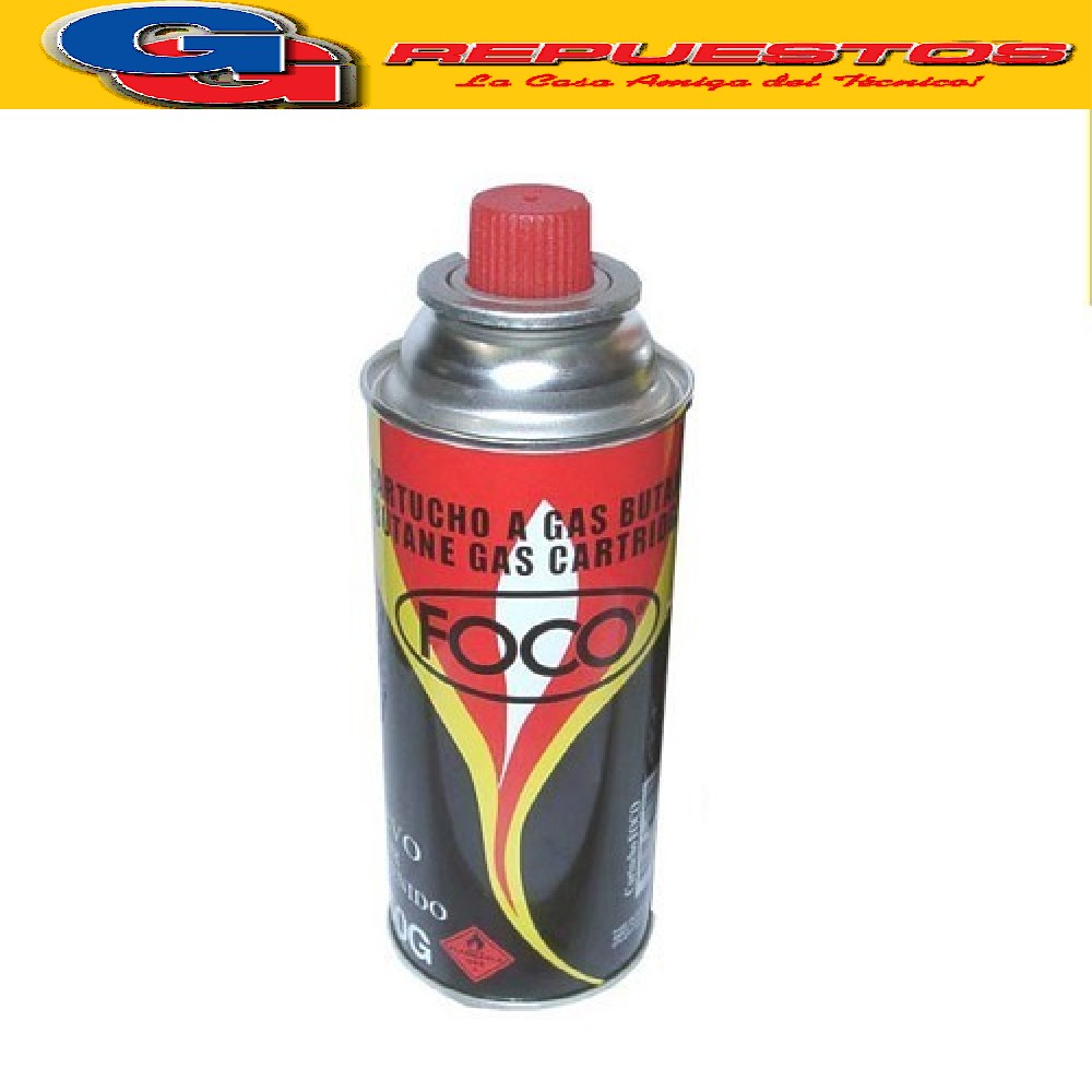 CARTUCHO LATA GAS 250 gr FOCO (AEROSOL) DESCARTABLE