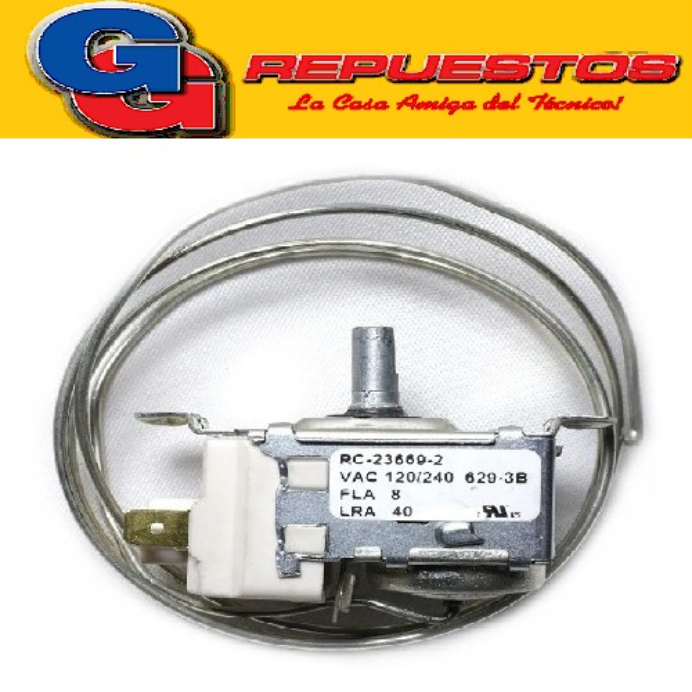 TERMOSTATO REFRIGERADOR RC-23669-2 KDF21M2 MEDIA CAÑA 3 CONTACTOS