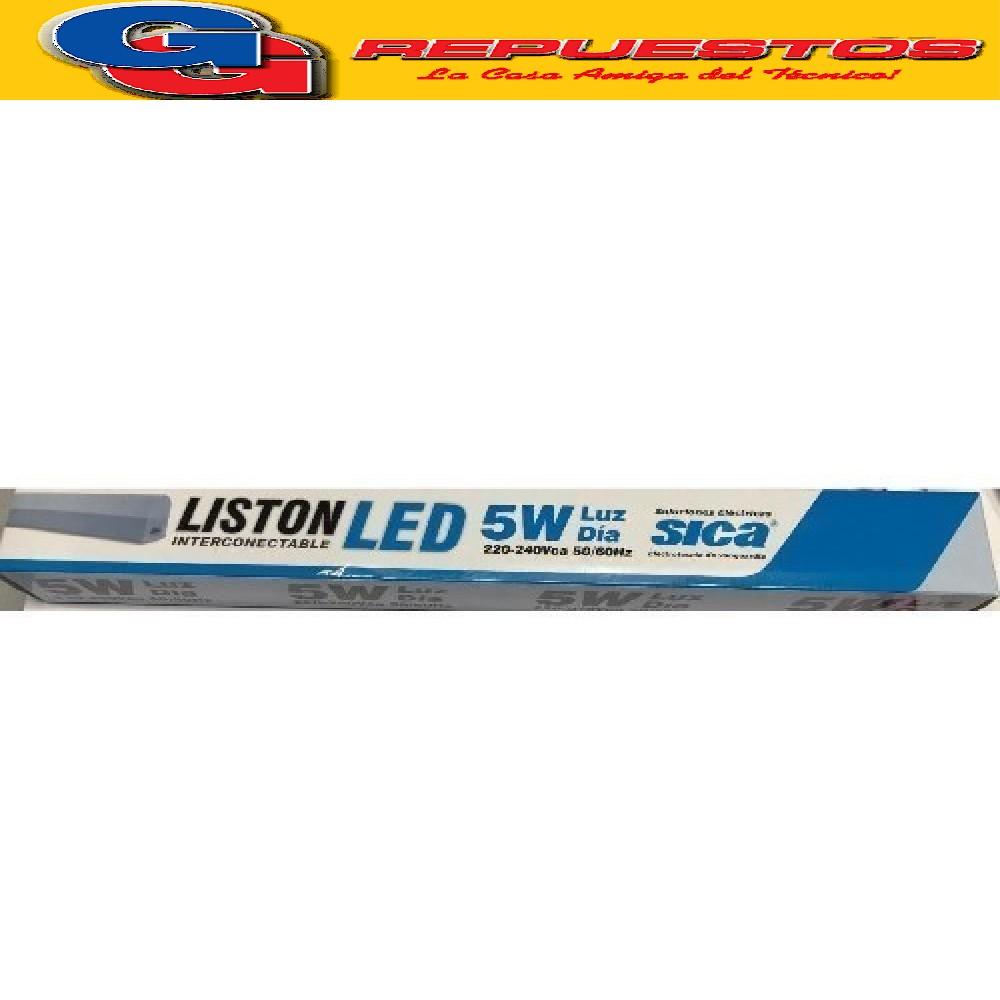 LISTON PLAFON INTERCONECTABLE LED 5W LUZ DIA 220-240VCA 50/60HZ SICA