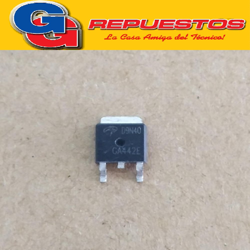 AOD9N40 TO252  - TRANSISTOR MOSFET 400V 8A N-Channel MOSFET