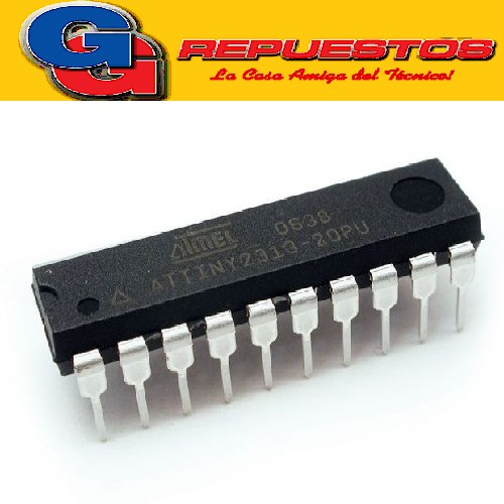 ATTINY 2313 - DIP - CIRCUITO INTEGRADO 8-bit AVR Microcontroller with 2K Bytes In-System Programmable Flash