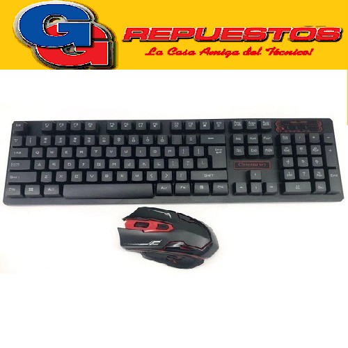 TECLADO PC Y MOUSE GAMER CON DPI AJUSTABLE COMPATIBLE PARA WINDOWS98/2000/XP/VISTA/WINDOWS 7/8/10, ETC 2.4GHz RANGO DE USO 10 METROS