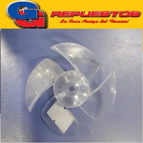 HELICE TURBINA SECADOR DE PELO EJE 4.5 MM DIAMETRO 61.5 mm , ALTO TOTAL 26 mm