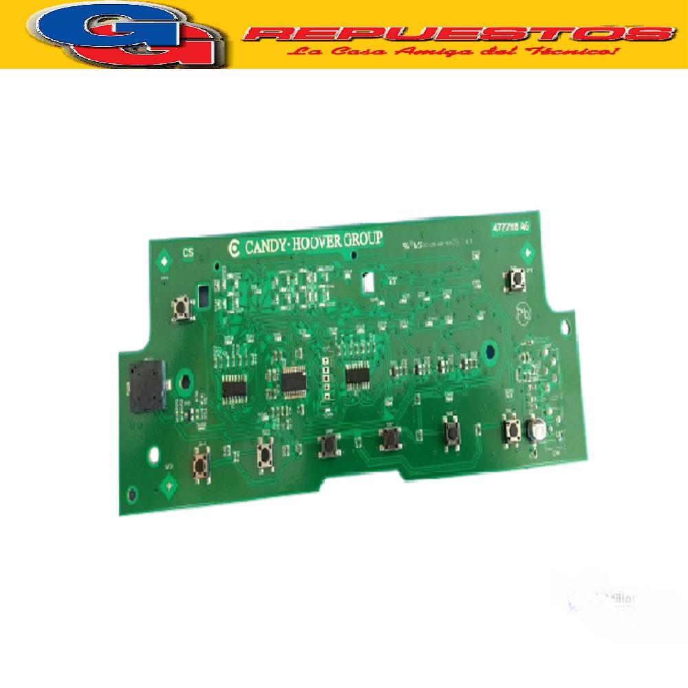 PLAQUETA SUPERIOR MANDOS LONGVIE LAVASECARROPAS LS8012C-CANDY EVOW2853D2/12 (PLACA DE MANDOS SIN CHICHARRA LAVASECA ORIGINAL) Cod.Origen:41035750 (CANDY GIAS) Reemplazada 41035750/R (LONGVIE) PLACA MANDO LS8012 41041468 (CANDY GIAS) PLACA MANDO LS80