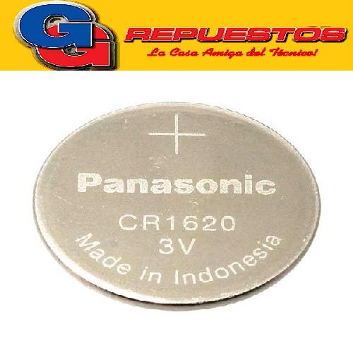 PILA PANASONIC CR-1620 LITIO BOTÓN 3V (PRECIO X UNIDAD)