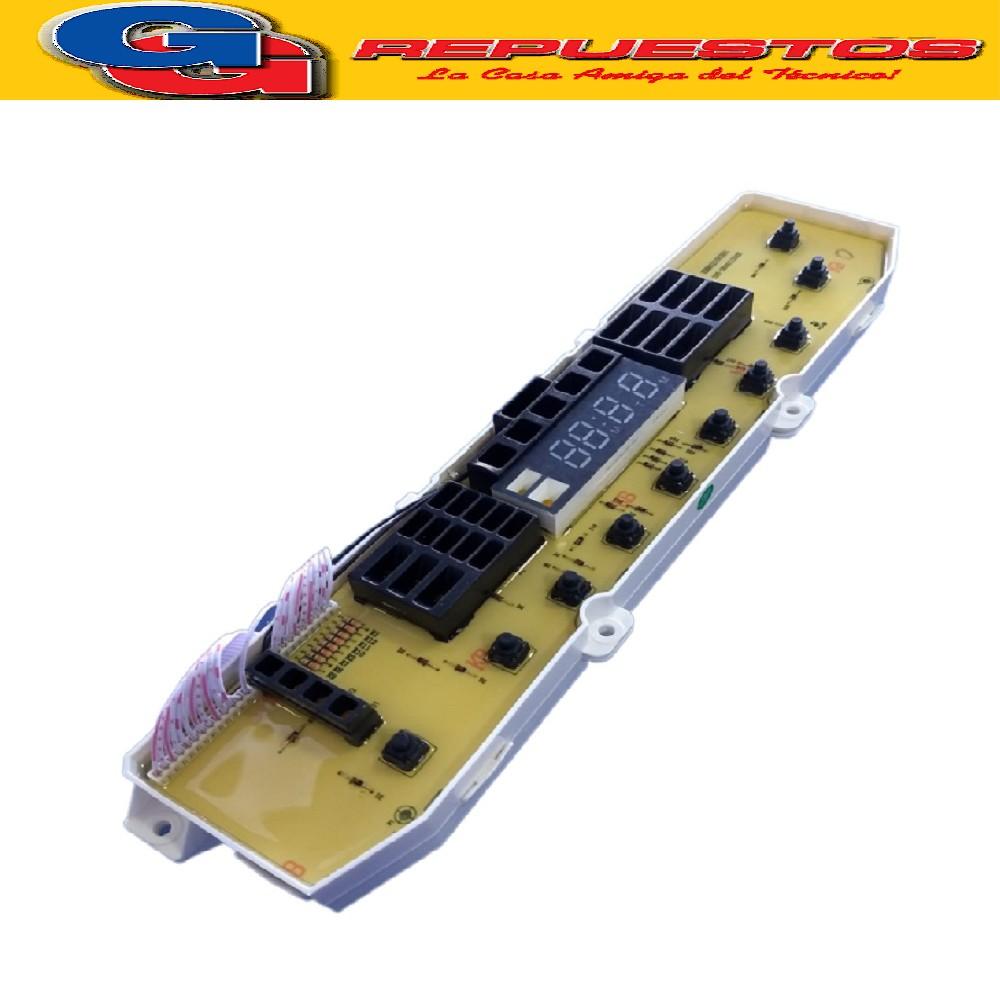 PLAQUETA LAVARROPAS LG 9 Y 13 KG / PLAQUETA C/SUP.LG TURBODRUM WF-T1002TDFT- Cod.Origen:EBR62105301 (LG) Origin /PCB Assembly T7020 T8000 T9000 EBR62105303 (LG) Interchangeable /PCB Assembly EBR62105304 (LG) One Side /PCB Assembly T7020TD (T/ORIGINAL) MEDIDAS : 7.2 CM X 33.5 CM