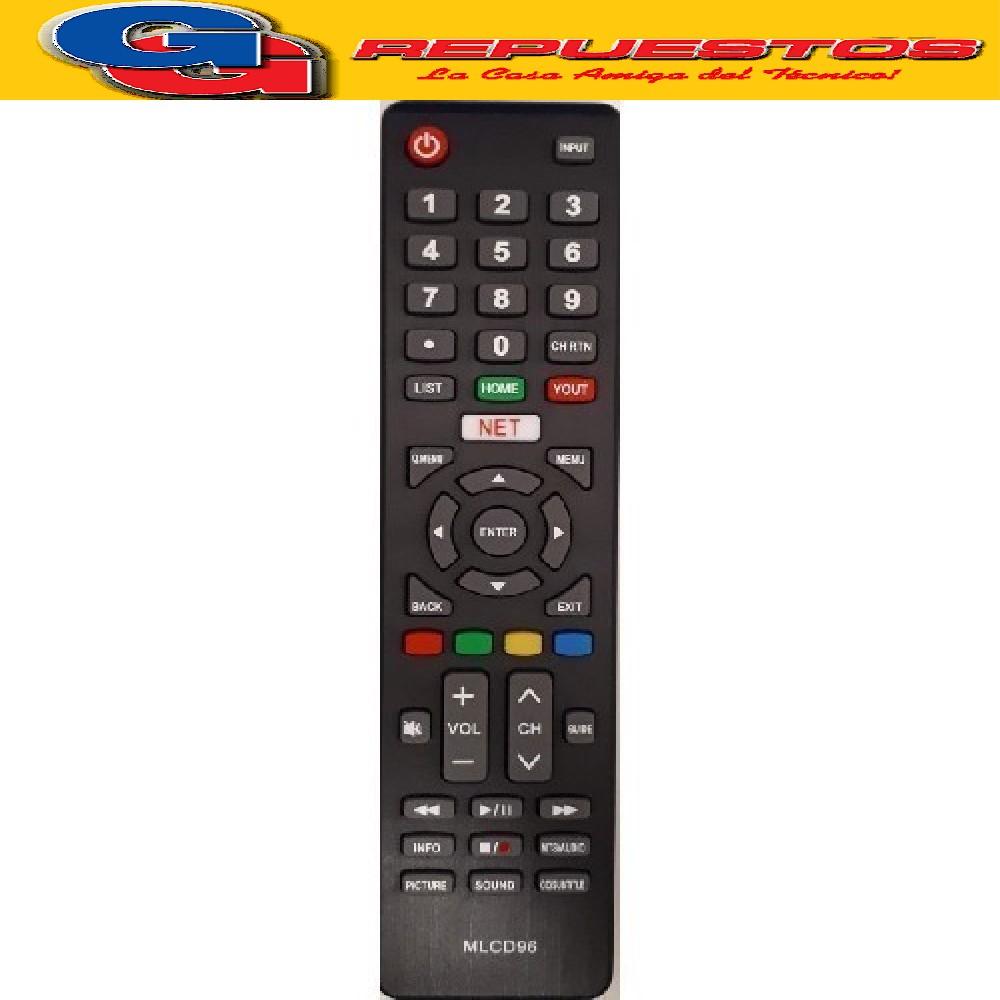 REM 196 - CONTROL REMOTO LCD LED SAMRT - KODAK, TOP HOUSE, TELEFUNKEN MLCD96