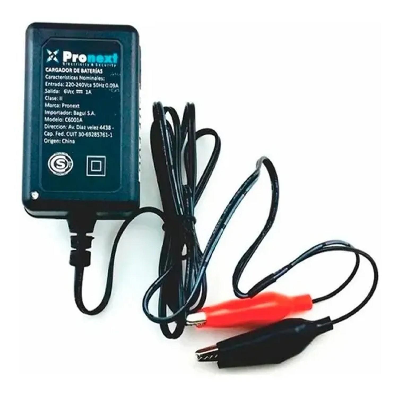CARGADOR DE BATERIA DE GEL INTELIGENTE DE 6V 1A CARB 6V1A Corriente de carga máxima: 1Ampers/hs - Diseñado para: Baterías 6V de hasta 10Ah - Usos: Baterías de Gel, de plomo acido.
