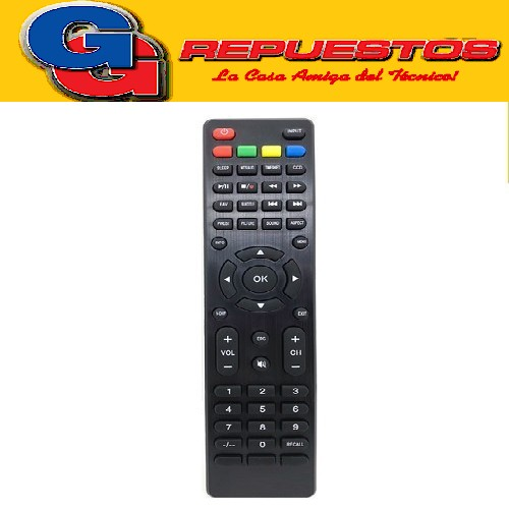 CONTROL REMOTO LCD LED TOP HOUSE RCU-346