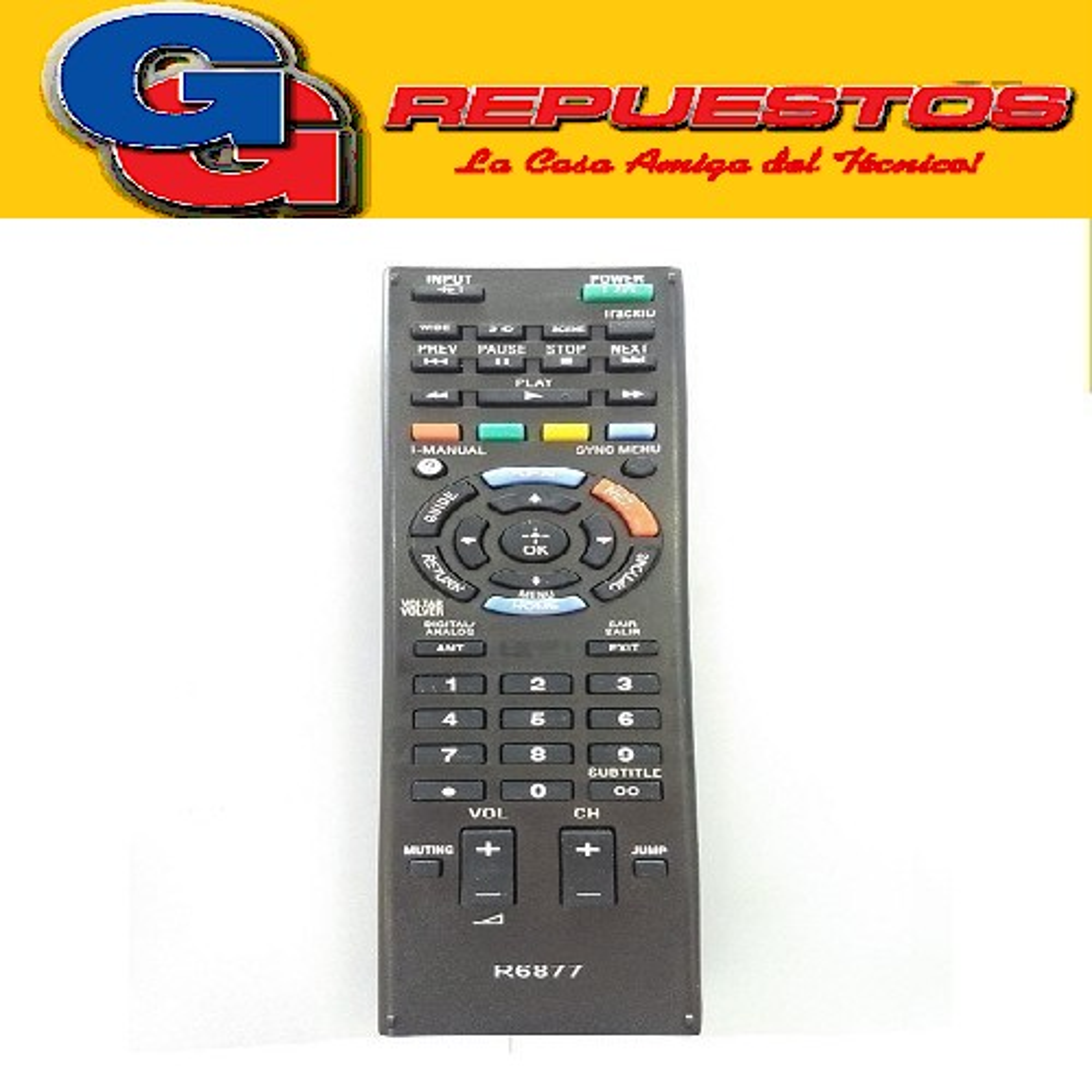 CONTROL REMOTO LED SONY SMART NETFLIX R6877