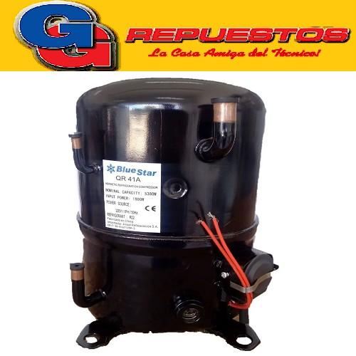 MOTOCOMPRESOR BlueStar 1.8HP-M22-QR41A CONEXION MONOFASICA