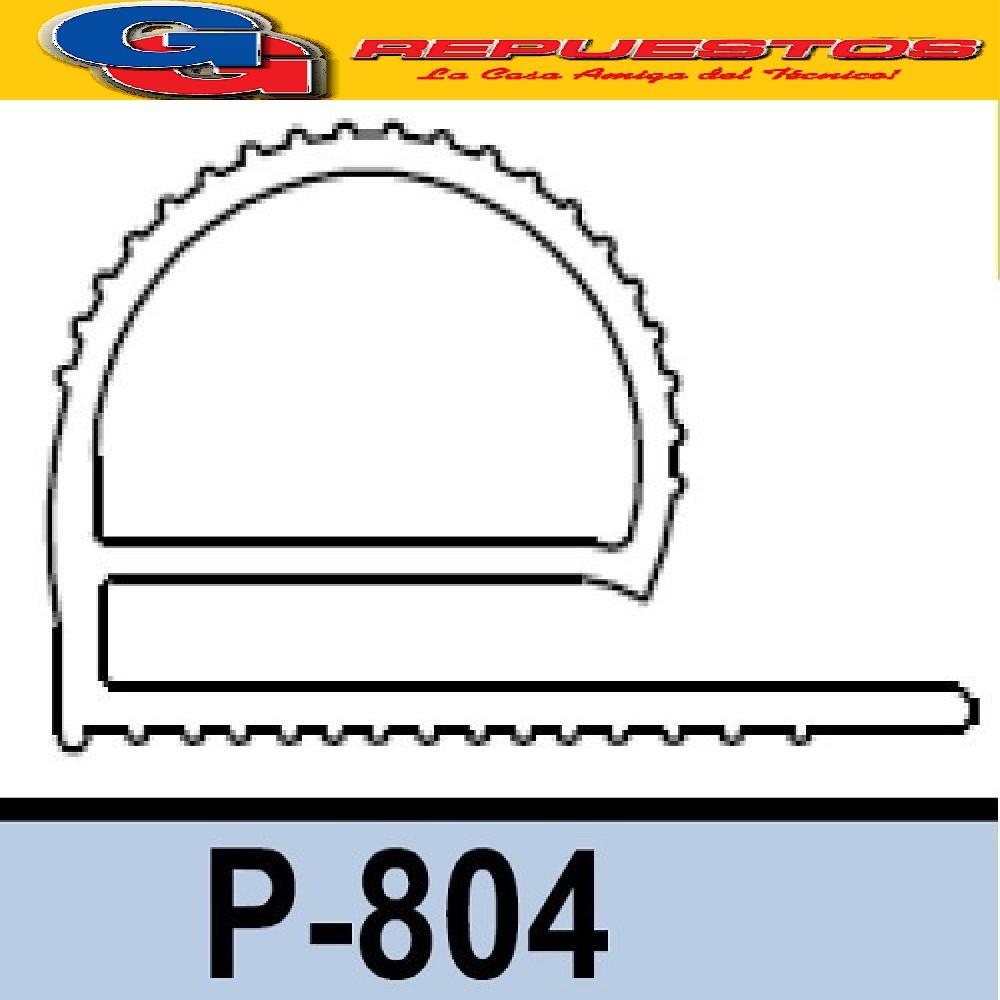 BURLETE P-804 CURVO PARA HELADERA COMERCIALES X METRO