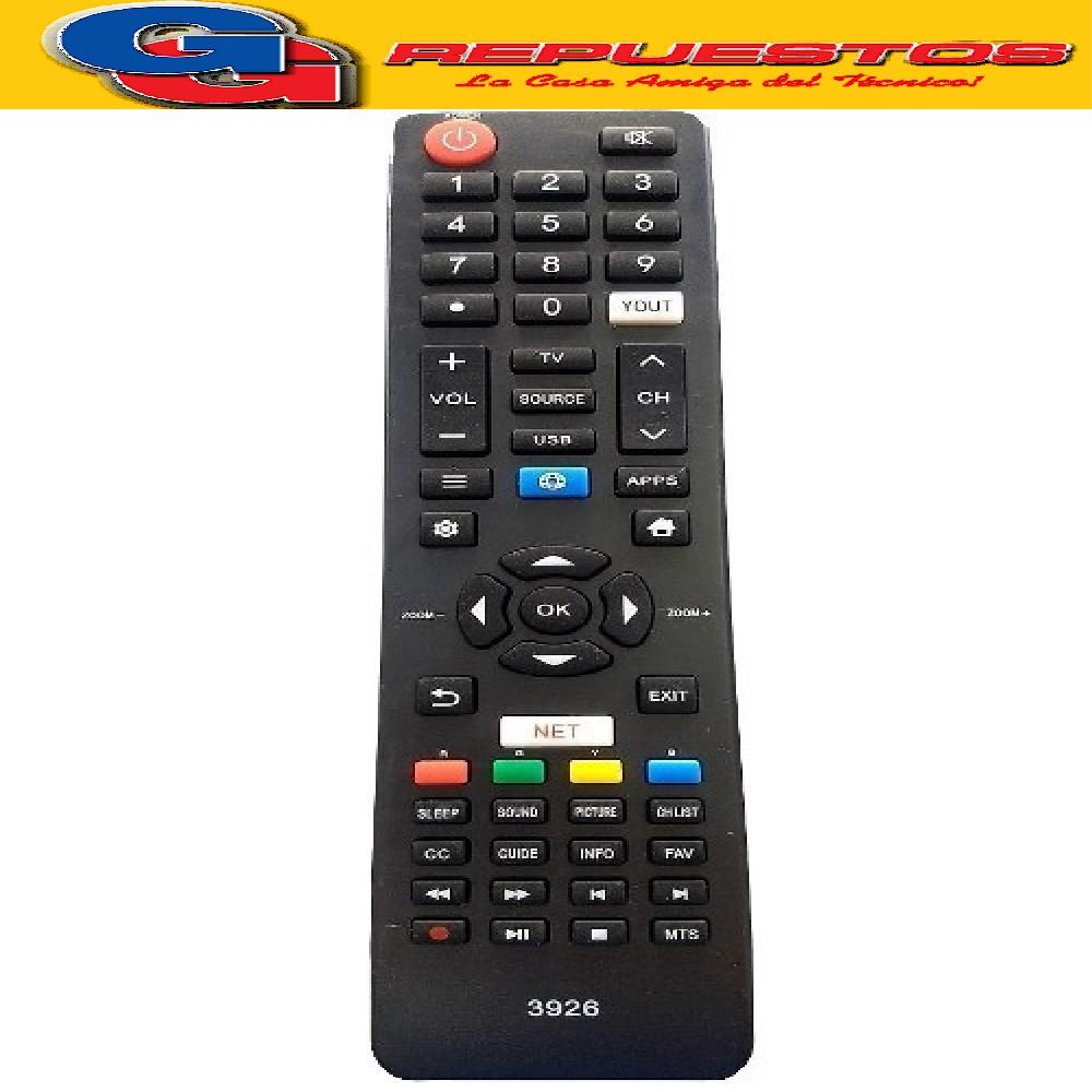 CONTROL REMOTO LED SMART NOBLEX PHILCO SANYO 548 3926
