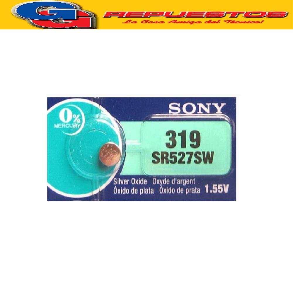 PILA SONY OXIDO DE PLATA 319 1.55V SR-527SW (PRECIO X UNIDAD)