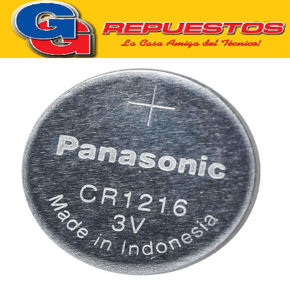 PILA PANASONIC CR-1216 LITIO BOTÓN EN BLISTER X5 (PRECIO X UNIDAD)