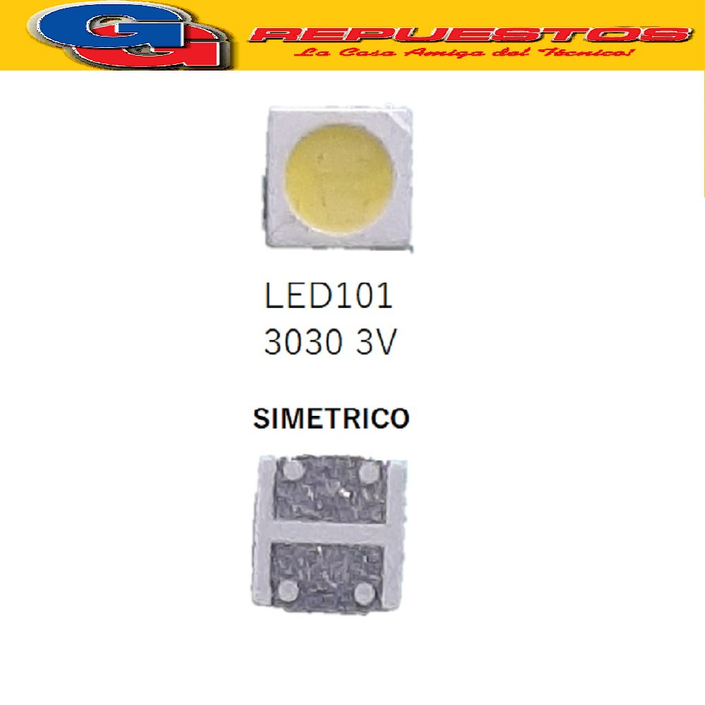 LED PANTALLA 3V 30X30 SIMETRICO LED101