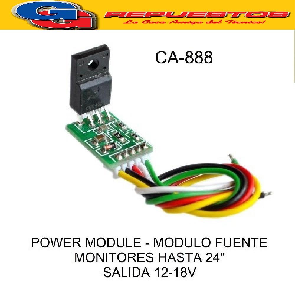 MODULO FUENTE UNIVERSAL CA-888 POWER MODULE HASTA 24  SALIDA 12 - 18V