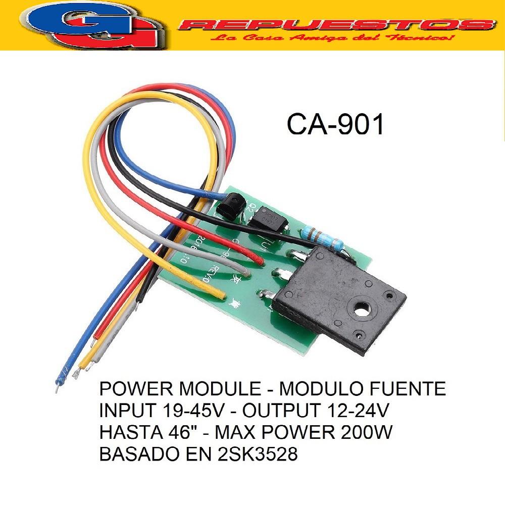MODULO FUENTE UNIVERSAL 200W (REGULA 12V O 24V) CA-901 POWER MODULE HASTA 46