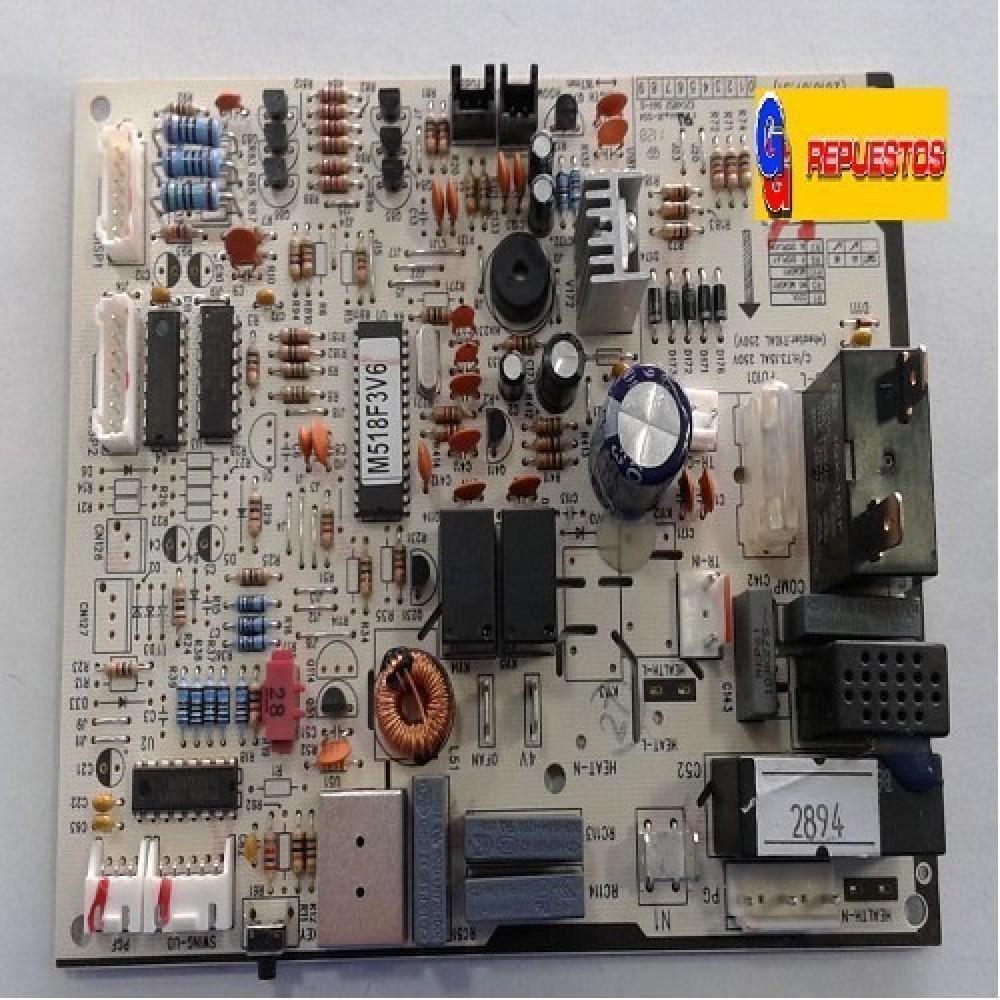 PLAQUETA ORIGINAL AIRE ACONDICIONADO SPLIT (GRJ518-A V1.8 / M518F3V6)